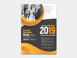 Seminar Design Template A4 Marketing Seminar Poster Template Ideal Corporate Events