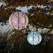 allsop home and garden solar lantern globe market copper 12