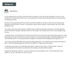 Resume Background Summary Example Newskey Info