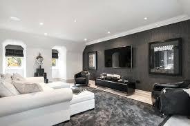 dark grey walls living room designer