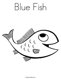 Small Picture Blue Fish Coloring Page Twisty Noodle