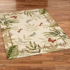 erflies dragonflies rectangle rug cream