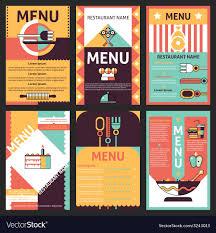 Menu Designs Restaurant Menu Designs Royalty Free Vector Image