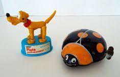 Vintage Toys Pluto Push Up Puppet Gabriel Metal <b>Wind</b> Up Ladybug ...