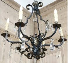 iron crystal chandelier wrought lighting regarding ideas 5