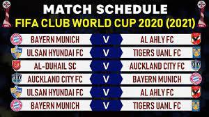 MATCH SCHEDULE: FIFA CLUB WORLD CUP ...