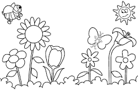Spring Coloring Worksheets Free Coloring Library Printable Coloring