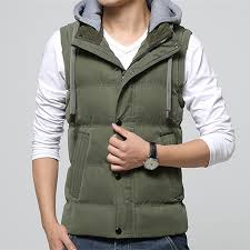 <b>High Quality Men</b> Casual Vest <b>Winter</b> Coat Hat Detachable <b>Men</b> ...
