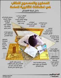 إنفوجرافيك.. الممنوع والمسموح للطلاب في امتحانات الثانوية العامة
