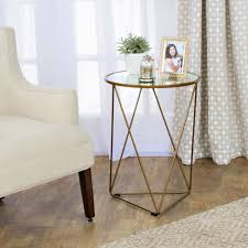glass and metal furniture. HomePop Metal Accent Table Triangle Gold Base Round Glass Top And Furniture A