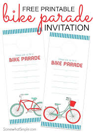 fourth of july invitations free printable bike parade invitation 4th of july party invitation ideas