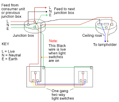 two way light switch method 2 2 Light Switch Wiring Diagram two way lighting circuit using junction boxes wiring diagram 2 way light switch