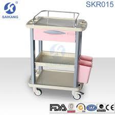 Hospital Furniture Skr015 Movable Storage Chart Carts