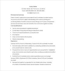 Event Coordinator Resume Wonderful 8819 Event Planner Resume Template 24 Free Samples Examples Format