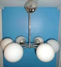 orb light chandelier mid century chrome 6 lights sputnik ceiling vintage modern brushed nickel crystal orb light chandelier