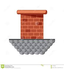 Pipe Chimney Design Colored Flat Icon Vector Design With Shadow Brick Chimney