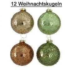 Weihnachtsbaumkugel Glas Grün 12er Set D 8cm