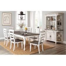 dining room table set white. two-tone french country 5-piece dining set - bourbon county room table white