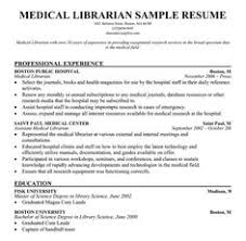 Library Resume Samples Magdalene Project Org
