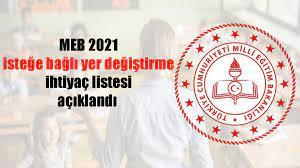 MEB 2021 isteğe bağlı yer değiştirme ihtiyaç listesi açıklandı - TV BOLU