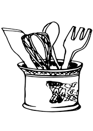 Small Picture Coloring page kitchen utensils img 19079