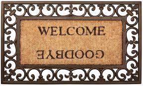 Amazon.com : Esschert Design Welcome/Goodbye Door Mat - Rectangle ...