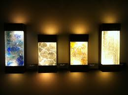 exterior wall lights with colorful artistic led wall sconces