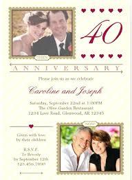 Wedding Anniversary Invitation Templates Free Lake 40th