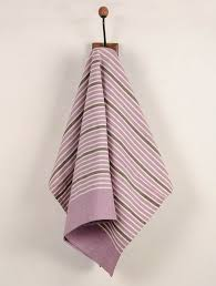 organic cotton jamuni purple kitchen towel set of 2