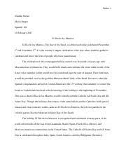 research paper outline the day of the dead origin traced back to  5 pages day of the dead essay