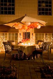nice standing up umbrella and round patio dining table plus awesome led light bulbs
