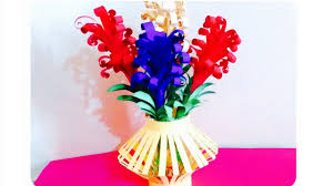 Paper Flower Bouquet In Vase How To Make A Paper Flower Bouquet I Lavender Flowers Basket Artsncraft