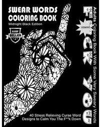 Sweet Savings On Swear Word Coloring Book Midnight Black Edition