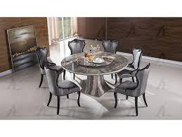 black marble top round dining set