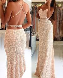 Prom Dress Color Chart Sequins Lace Mermaid Prom Dress Open Back Long Prom Dress
