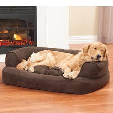overstuffed luxury sofa dog bed