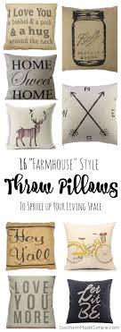 Small Picture 16 Farmhouse Pillows to Spruce up Your Decor Farmhouse style