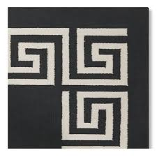 greek key border indoor outdoor rug black williams sonoma
