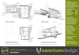 Pod House Plans Sanctum Design Environmentally Responsible Home Design And