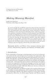 Making Meaning Manifest - Marilynn ...