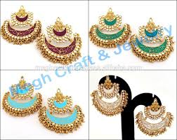 South Indian Traditional Gold Earrings Designs 2018 Latest Designer Peacock Jhumka Earrings South Indian Bridal Earrings Fashion Wear Party Wear One Gram Gold Earrings View Fashion Gold Plated
