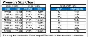 K2 Ski Size Chart Women S K2 Womens Anthem 76 Skis With Erp 10 Bindings 2020