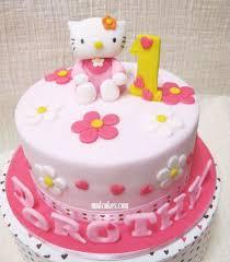 1 Year Birthday Cake Design Hello Kitty 1st Birthday Cake Design 1st Birthday Cake