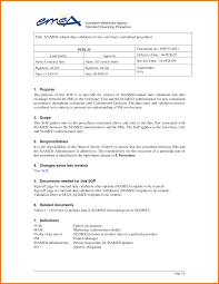 Free Sop Standard Operating Procedure Template Microsoft Complete Guide Example 16