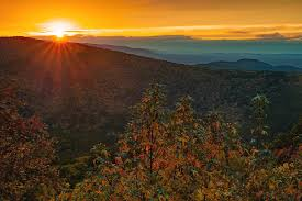 Sunset Point Vista - Talimena Scenic Byway in Autumn Photograph by Gregory  Ballos