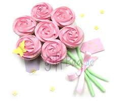 Mothers Day Cupcake Bouquet Pink Cupcakes Cakes Gourmet