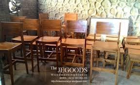 jual kursi bar minimalis jati jepara goods furniture indonesia teak manufacturer