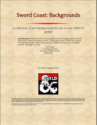 5e backgrounds chart sword coast backgrounds dungeon masters guild drivethrurpg com