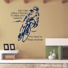 cycling wall art decals wall art