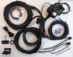 100% brand new 20 circuit wiring harness chevy mopar ford jeep 21 circuit ez wiring harness all black chevy mopar ford hotrods universal x long